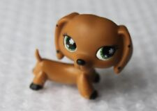 Littlest Pet Shop RARE Dachshund Dog Puppy No # Polka Dots Black Monopoly LPS