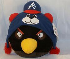 Black Angry Bird Atlanta Braves Plush Stuffed Animal Major League Baseball new