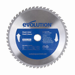 """Evolution Saw Blades For Steel - 10"""" With Arbor Reducer"""