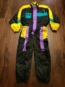 Nike Men's Size 105 175-185 Cm Retro Neon Snowsuit Yellow Black Purple EP-H57