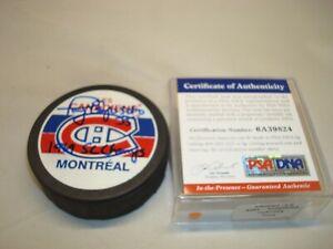 Tony Esposito Signed Montreal Canadiens Hockey Puck Autographed PSA/DNA COA 1A