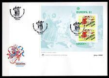 Portugal / Madeira - 1981 Europa Cept - Mi. Bl. 2 clean FDC
