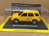 "DIE CAST "" FORD ESCAPE HYBRID - CHICAGO 2005 "" 1/43 TAXI COLLECTION SCALA 1/43"