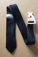 Calvin Klein da uomo cravatta seta nuovo con etichetta-nero con puntini bianchi-con clip Cravatta -