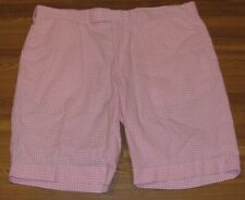 "Polo Ralph Lauren Pink/White Gingham Check Seersucker Shorts Men's W 36 L 9.5"""