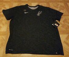 Nike San Antonio Spurs Dri-Fit T-Shirt Men's XXL Heather Black Brand New