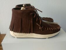 VISVIM Yucca Moc Shaman Veggie Suede Dark Brown Sneakers Sz EU 41   US 8