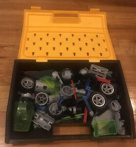 Vintage Construx Building System Assorted Pieces With Case (Mattel, 1996)
