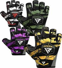 RDX Handschuhe Gym Trainings Fitneß Handschuhe Bodybuilding Fitness Bandagen SW