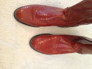 Size 9 NEW Justin Exotic Lizard Skin Western Boots
