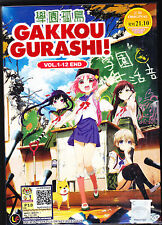 *NEW* GAKKOU GURASHI! SCHOOL LIVE! *12 EPISODES*ENGLISH SUBS*ANIME DVD*US SELLER