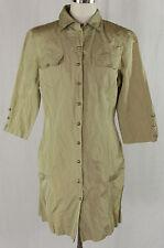 Unifarbene knielange Blusenkleider aus Polyester