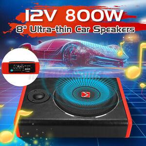 "8"" 800 Watt Auto Untersitz Subwoofer Bluetooth 73mm Slim Aktiv Bassbox +Kabel"