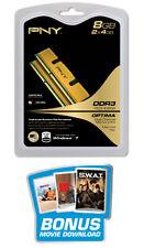 PNY 8 GB DIMM 1333 MHz PC3-10600 DDR3 Memory (MD8192KD3-1333)