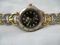 Tommy Hilfiger Watch Gold & Silver Toned Date Indicator WR 300M Diver's WORKING!