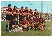 CALCIO CARTOLINA  squadra milan 1964-65 ed. rotacolor viaggiata  cm 14,50 X  20