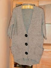 Long Grey Metallic Cardigan Size 14