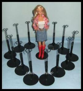 12 Black Kaiser #2275 BARBIE Doll Stands fit Monster High Fashion Royalty