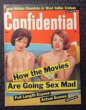 1965 CONFIDENTIAL Magazine v.13 #5 FN- 5.5 Sex Mad Movies - Natalie Wood