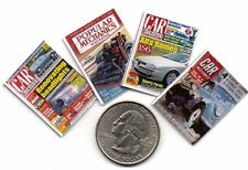 4  Mini 'Car & Mechanics'   MAGAZINES  - Dollhouse  1:12 Scale OPENING PAGES