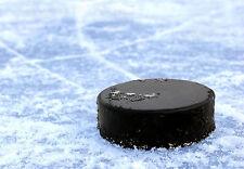 Enmarcado impresión Hockey Sobre Hielo Puck tendido en el hielo Deportes Imagen Arte Cartel de ()