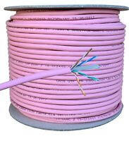 60m CAT6 LSZH LSOH Pink 100% COPPER Ethernet Network Cable Reel Indoor