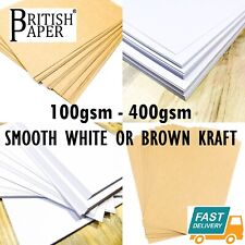More details for a6 a5 a4 a3 a2 card thick craft printer paper cardboard brown kraft white 300gsm