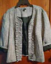 East 5th Womens Black & White 3/4 Sleeve Jacket Size XL
