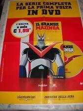 LOCANDINA POSTER MANIFESTO DVD IL GRANDE MAZINGA N. 1 cm 48,00 X 68,00 cm !!