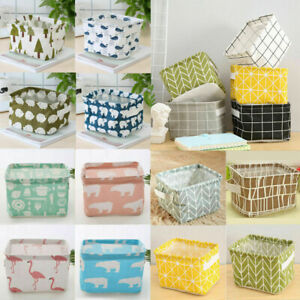 Foldable Fabric Storage Boxes Closet Cosmetic Container Organizer Bag Basket HOT