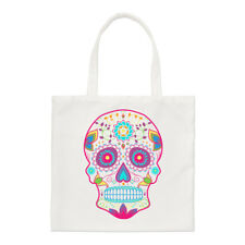 Colorido Azúcar Calavera Small Tote Bag-Gracioso Shopper Hombro