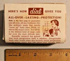 Vintage Dial deodorant Bath Soap Bar NOS 5 oz from 60s NOS -- 1732