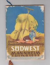 Große Landwirtschaftliche Ausstellung Suedwest Mannheim 1952 Plan Werbung Buch