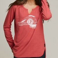 Trunk LTD Doobie Brothers Baby Thermal WOMEN'S red new t shirt by free people db