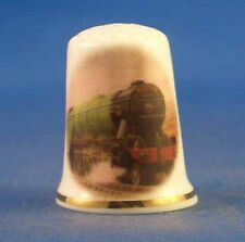 Birchcroft China Thimble -- Flying Scotsman Steam Train with Free Dome Gift Box