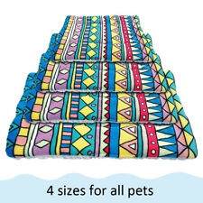 Dog Cat Bed Blanket Soft Warm Fleece Cushion Mat for Kennel Crate Washable S-XL