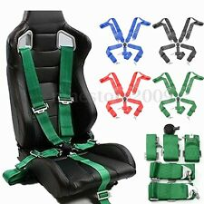 """Sport Racing Harness Seat Belt Seatbelt 3"""" 5 Point Fixing Quick Release 4Color"""