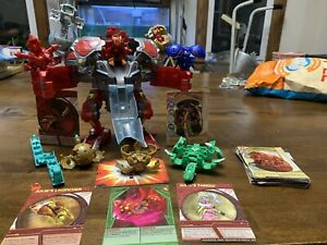 Lot of 11 Bakugan Battle Brawlers With Cards - See Pictures