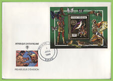 Central African Republic 1988 1500F Scouts/Birds miniature sheet First Day Cover