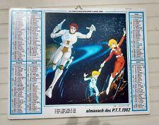 calendrier ptt almanach Capitaine Flam captain future 1982 oller TF1 la poste