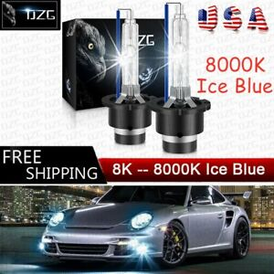 2x D4S 8000k HID Xenon Bulbs Headlight For Lexus GS450h IS250 High Low Beam Blue