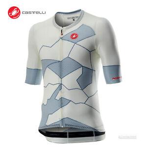 Castelli CLIMBER'S 3.0 Lightweight Cycling Jersey : IVORY/LT STEEL BLUE