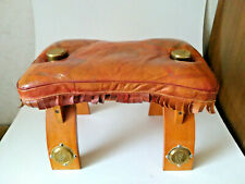CAMEL STOOL, VINTAGE - BRASS FITTINGS