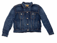 NWT AMERICAN EAGLE Misses Denim Jacket Sz XL Destroy Medium Wash #211153