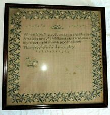Primitives Antique 1800s Stitchery Sampler