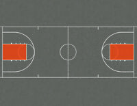 O Scale Basketball Courts Model Train Scenery Sheets – Includes 3 Full Courts