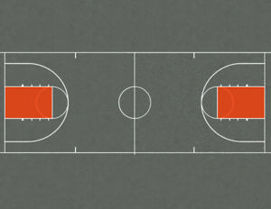 HO Scale Basketball Courts and Tennis Courts Model Train Scenery Sheets - 3 each