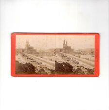 Hermann Krone Stereofotografie Dresden / Alte Elbbrücke - um 1870