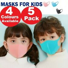 X5 Fashion Kids Face Covers Child Reusable Nose Mouth Cover Washable