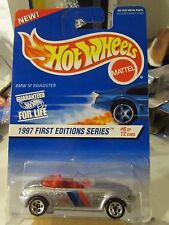 Hot Wheels BMW M Roadster 1997 First Editions #6 of 12 Silver 5sp New on Card